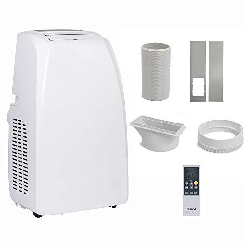 4in1 Mobile Klimaanlage | 12.000 Btu/h | 3 Geschwindigkeitsstufen | Klimagerät | Luftreiniger | Klima | Ventilator mit Fernbedienung | Luftkühler | Entfeuchter | Nachtmodus | Weiß