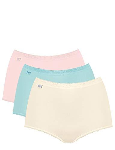 Sloggi - Culottes Taille Haute pour Femme - Lot de 3 Assorti 52