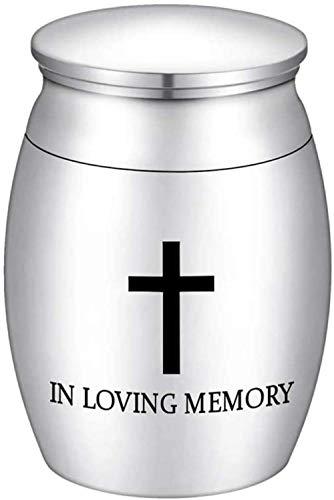 Urna Cremación En La Memoria del Amor, El Frasco De Cremación De Huesos para Conmemorar Las Cenizas De Humanos Y Animales (* Negro)