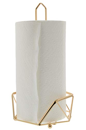 Product Image of the Cuisinart Stainless Steel Paper Towel Holder with Triangular Geometric Base and Elevated Rounded Feet for Stability, Countertop Paper Towel Dispenser, Fits Any Size Kitchen Towel Roll - Gold