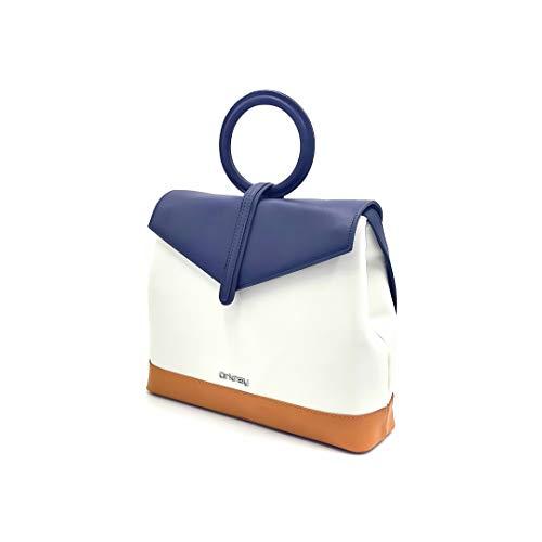 ORKNEY Handtasche für Damen, elegant, Umhängetasche für Damen, modische Handtasche für Damen. PU-Leder. Exklusives und originelles Design. Schöne braune Farbe.