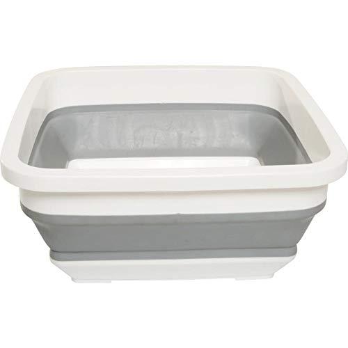 OHHCO Plegable para lavar el cuenco de silicona plegable cubo de camping lavabo plegable pesca camping coche cubo de agua al aire libre cubo de la familia
