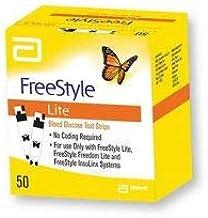 FREESTYLE LITE - 100 Tiras Reactivos para el cuerpo Prueba de Glicemia - GRATIS ESTILO