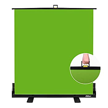 EMART Green Screen Collapsible Chroma Key Panel for Background Removal Portable Retractable Wrinkle Resistant Chromakey Green Backdrop with Auto-Locking Frame Aluminum Hard Case Ultra Quick Setup