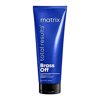 MATRIX Total Results Brass Off Color Depositing Custom Neutralization Hair Mask | Repairs & Protects Fragile Hair | For Color Treated Hair | 6.8 Fl Oz