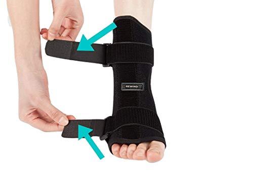 Plantar Fasciitis Night Splint Brace for Plantar Fasciitis Pain Relief For Dorsal Foot Stretching Support best for Achilles Tendonitis, Heel Spurs, Drop Foot - (Blue)