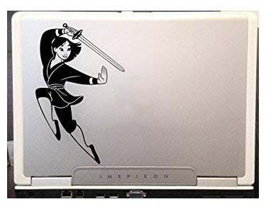 SUPERSTICKI Mulan is American Animated Musical Action Comedy Cartoon Decal Sticker Black - Sticker Graphic - auto, portemonnee, laptop, cel ca. 20 cm sticker autosticker wandtattoo