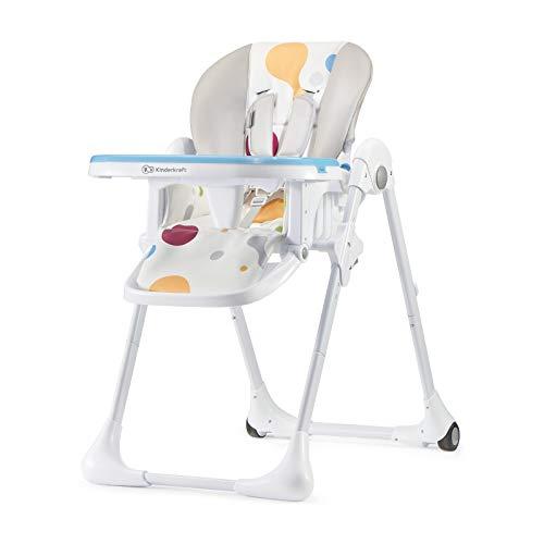 Kinderkrachtige hoge stoel YUMMY, kinderstoel, babystoel, combi-hoge stoel, vanaf de eerste levensmaanden, voetensteun, halfliggende positie, PU-bekleding, eenvoudig te reinigen, meerdere kleuren