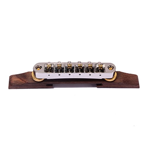 Artibetter Archtop Jazz Guitar Bridge Palisander Chrom Hardware Gitarrenteile