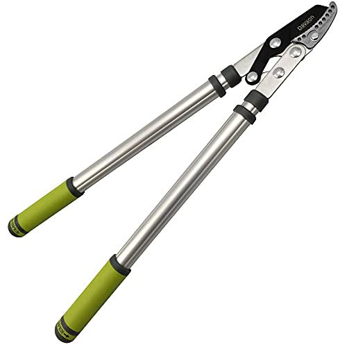 Davaon Pro Telescopic Tree Pruners - Extendable Anvil Loppers with Lightweight Handle and Premium SK5 Blades -...