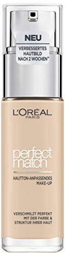 L'Oréal Paris Perfect Match Foundation, flüssiges Make-Up, deckend und feuchtigkeitsspendend für einen natürlichen Teint - 0.5 porcelain (30 ml)
