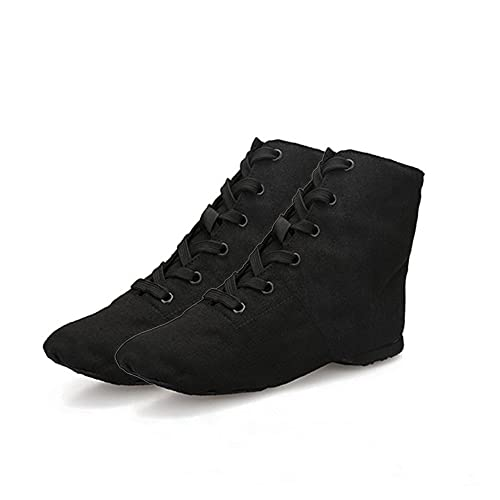 Froiny 1 Par De Alta Jazz Zapatos De Lona De Zapatillas De Deporte De Práctica con Cordones Suela del Zapato De Danza del Ballet Hombres Mujeres