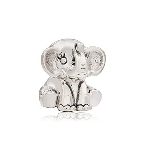Pandora 925 plata esterlina joyería de bricolaje Charmtrinket joyería de elefante fino cuentas de elefante ajuste europeo pulsera mujeres colgante accesorios regalo
