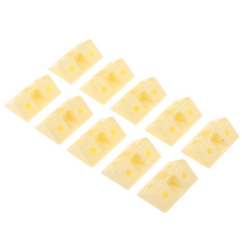 FEANG Protector de esquina de plástico, 10 unidades por lote, con código de ángulo recto, ángulo recto, 90 grados, bandeja de madera contrachapada, accesorios de armario (color: 6, tamaño: 41 x 28 mm)