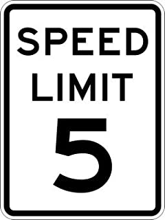 5-MPH SPEED LIMIT Signs - 18x24