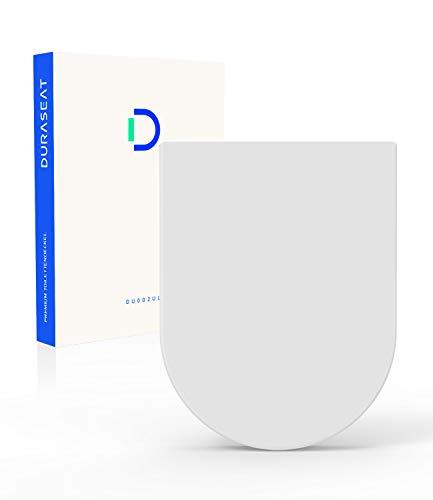 DURASEAT® DU002UL Premium Toilettendeckel U-Form 470mm, WC Sitz mit Absenkautomatik, Toilettensitz Antibakteriell aus Duroplast und rostfreiem Edelstahl