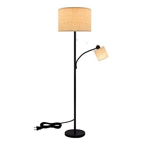 SHELLTB Velcro LED Stehlampe, Fußschalter-Funktion Hyundai Sicherheit Leselampe, Hängen Drum Shade Stehleuchte, Für Schlafzimmer Lesesaal Piano Büro