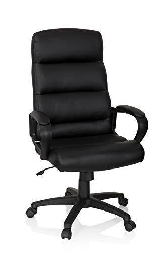 hjh OFFICE 738113 Silla de Oficina Futura 100 Piel sintética Negro Acolchado Grueso Silla de Escritorio