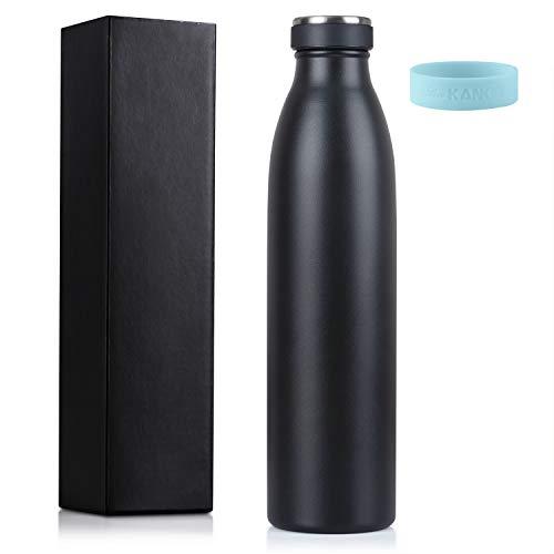 love-kankei inoxydable, avec double isolation et sans BPA, conserve le froid 24 heures et le chaud 12 heures, 750 ml, noir