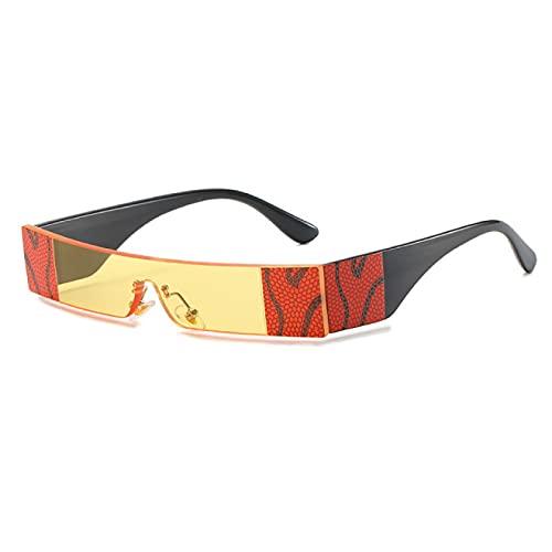 Lsdnlx Gafas de Sol rectangulares para Mujer, pequeñas y Sexis, de una Pieza, para Hombre, Rosa, Transparente, para Hombre, Gafas de Sombra UV400