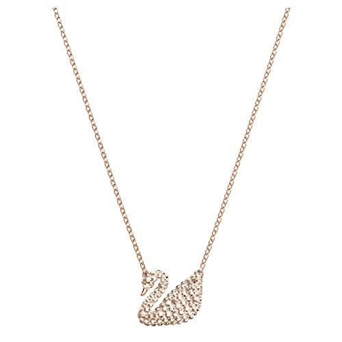 Swarovski Pendente Iconic Swan, Bianco, Placcato Oro Rosa