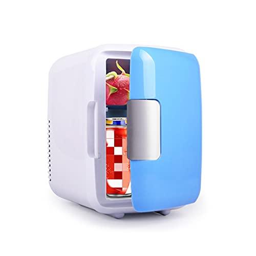 MCYAW Frigorífico de Coches Bebidas Enfriador Portátil Mini Frigorífico Congelador Bebida Maquillaje Cuidado de la Piel para Autos/Home Refrigerador Coche Pequeñas Frijoles 4L (Color Name : Blue)