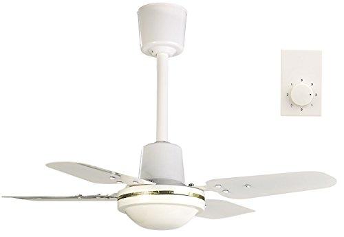 Sichler Haushaltsgeräte Deckeventilator: Kompakter Deckenventilator, 4 Metallflügel, 3 Stufen, Ø 61 cm, 70 Watt (Ventilator Decke)
