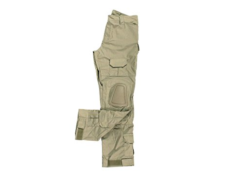 BEGADI Basics Combat Pants/Hose, mit 10 Taschen & abnehmbaren Knieschonern - Khaki/TAN