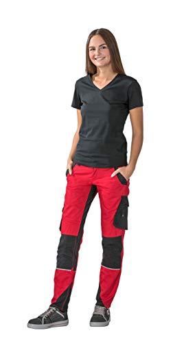 Planam Norit Damen Bundhose, Farbe: Rot/Schwarz, Größe: 36