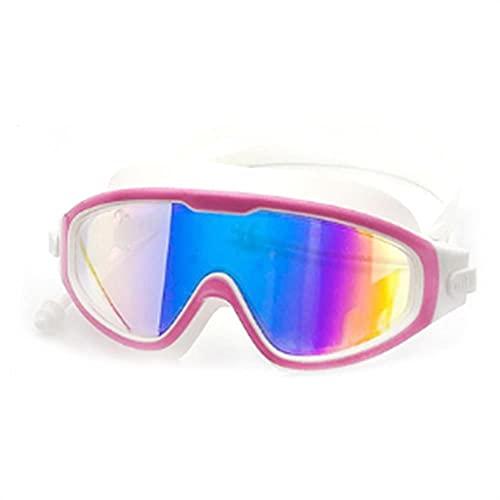 UKKD Gafas Natación Gafas Impermeables De UV De Galvanoplastia Anti-Niebla De Baño De Natación Gafas Regulables De Buceo
