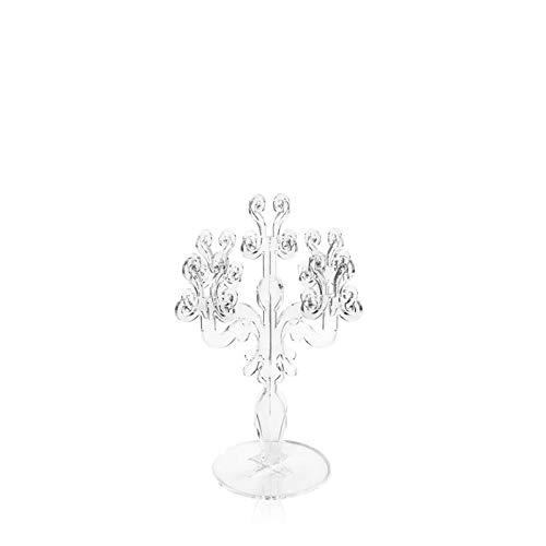 iPLEX - Candelabro Linea Vittoriale Design Rinascimentale con 5 Braccia in plexiglass Trasparente Dim. 32,9x24,7x24,7 cm - arre