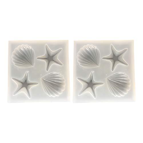 Fablcrew. 2 moldes para Tartas antiadherentes de Silicona en Forma de Concha...