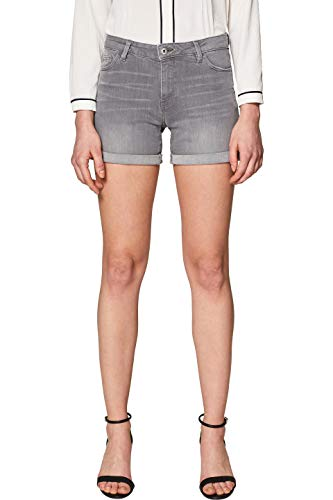 edc by ESPRIT Damen 029CC1C007 Shorts, Grau (Grey Light Wash 923), W29(Herstellergröße: 29)