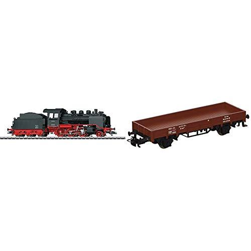 Märklin 36244 Klassiker Modelleisenbahn Dampflokomotive Baureihe 24, Spur H0 & Start up 4423 - Niederbordwagen, Spur H0