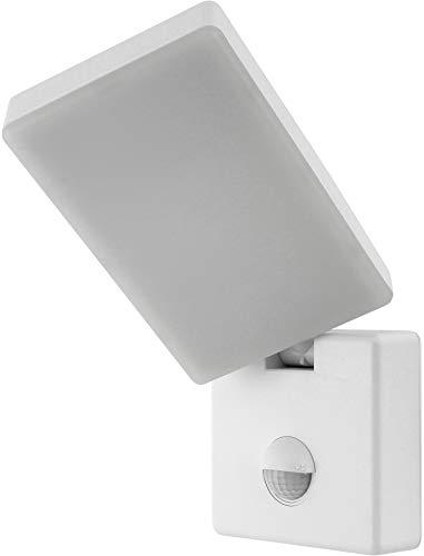 LED muurschijnwerper 15W IP44 met bewegingsmelder + schemeringssensor - draaibaar zwenkbaar - daglicht wit (4000 K)