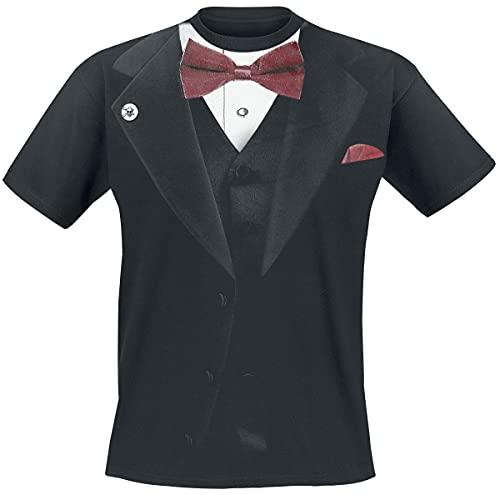 Outer Vision Smoking Homme T-Shirt Manches Courtes Noir XL, 100% Coton, Regular/Coupe Standard