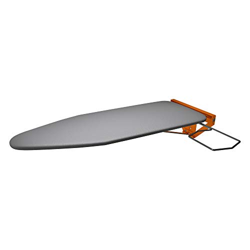Eureka_MFG Compact Wall Mounted Ironing Board - Limited Edition Orange Fixing Plate