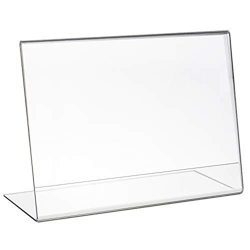 HMF 46933 Acryl Tischaufsteller schräg | DIN A5 Querformat | Glasklar