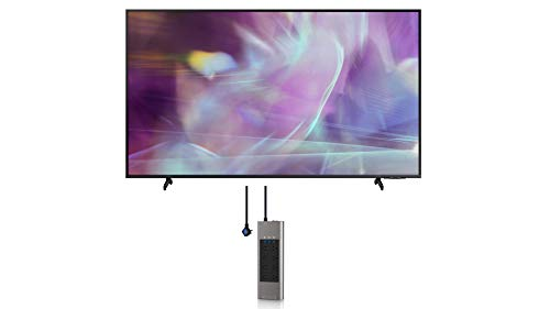Samsung QN70Q60AA 70' QLED Q60 Series 4K Smart TV Titan Gray with an Austere V-Series 8-Outlet Power w/Omniport USB (2021)