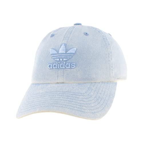 adidas Originals Women's Relaxed Fit Adjustable Strapback Cap, Tactile Blue, One Size