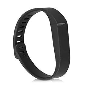kwmobile 3X Brazalete Compatible con Fitbit Flex - Pulsera de TPU para Fitness Tracker en Negro