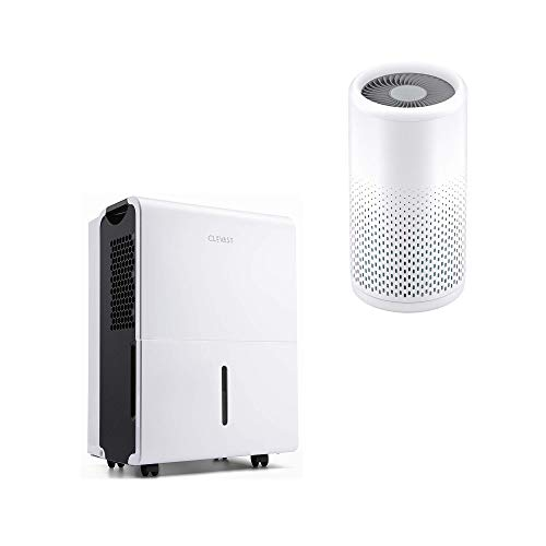 CLEVAST 1,500 Sq. Ft Energy Star Dehumidifier and CL-AP200 Air Purifier with True HEPA Filter, Best for Home, Basement, Living Room