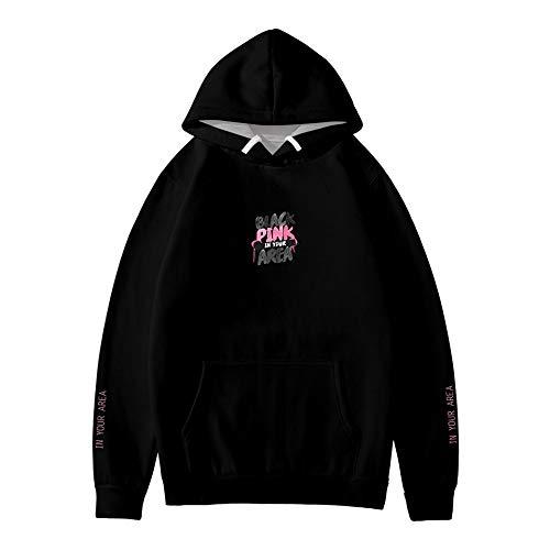 WAWNI 2020 Moda Felpe con Cappuccio Swirtshirts Blackpink Kpop Manica Lunga Cappello Vestiti Pullover Felpe Sudadera hoodis 5 L