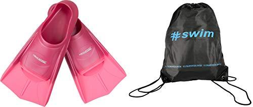Aqua Speed Trainingsflossen + Ultrapower Rucksack   Schwimmflossen   Kurzflossen   Größe: 31/32 Farbe: rosa/hellrosa/03
