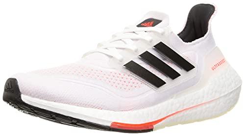 adidas Ultraboost 21, Zapatillas de Running Hombre, FTWBLA/NEGBÁS/Rojsol, 42 2/3 EU