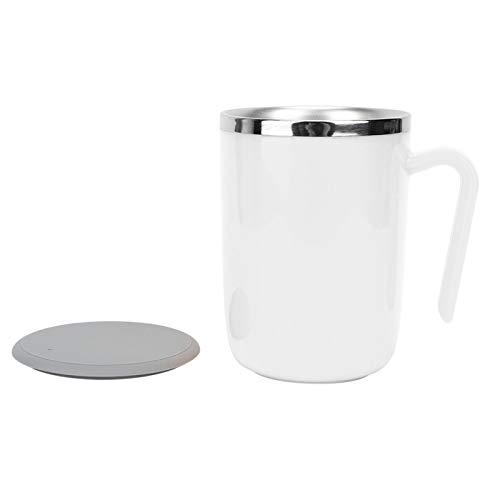 Taza de mezcla, taza con agitación automática, impermeable automática para café, leche, té(white)