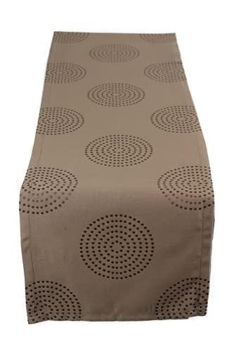 Esprit Tischläufer Kreise Tischband Läufer Tischdecke Geschenkidee 40 x 140 cm braun