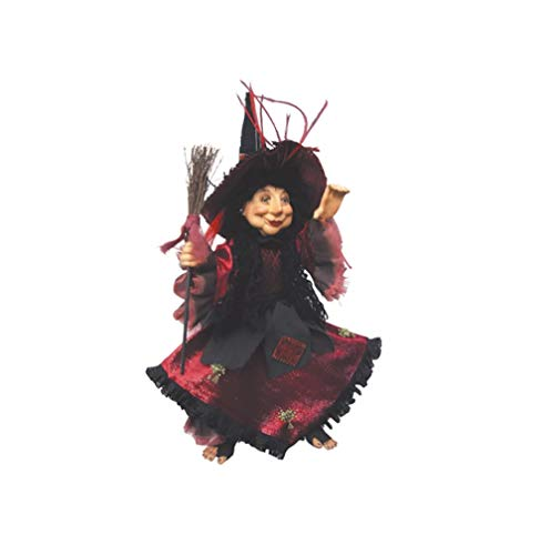 Hexen von Pendle-Rosmarin Küche Hexe zum Aufhängen oder sitzen (Burgund) 35cm