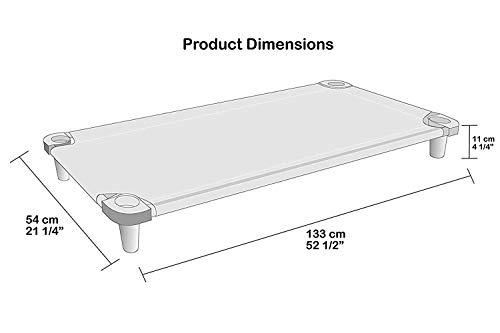 Blue Cot - Grey Feet Acrimet Premium Stackable Nap Cot 1 Unit Stainless Steel Tubes