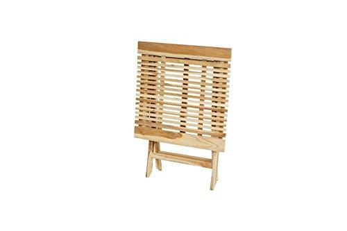 Ploß Ploß Outdoor furniture Milford Klapptisch, Eco Teak Natur, 70 x 70 x 75 cm